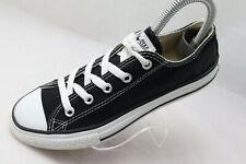 Converse All Star Chuck Taylor Youth Size 2.5 Canvas Low Top Black 3J235