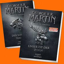 George R.R. Martin | GAME OF THRONES Band 1 + 2 | Der Winter naht + Unser(Buch)