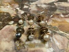 Antique Vintage Pearl Tie Tac Lot
