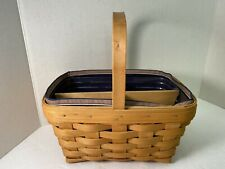 Longaberger Basket 2003 With Liner Protector & Divered