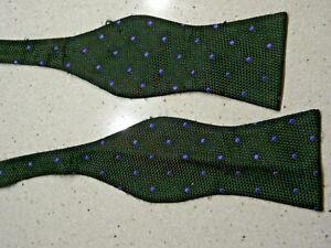 Cremieux Silk Bow Tie- Black  With Purple Dots- $8