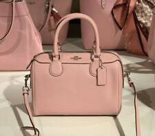 Coach F32202 Bennett Crossgrain Mini SV/Carnation Leather Satchel $298 pink