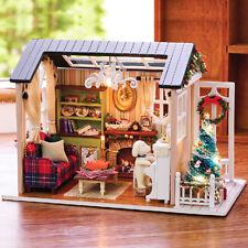 Progetto fai da te Handcraft in miniatura il mio piccolo paese Lodge in casa di bambole di Natale