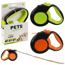 8m Automatic Retractable Reflective Pet Dog Lead Leash Cord Extendable Walking