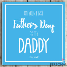 1st Fathers Day Card As My Daddy Dad First Father's Day From Baby Daughter Son