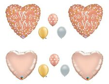 Wedding Shower Rose Gold balloons Decoration Supplies Mr. and Mrs.