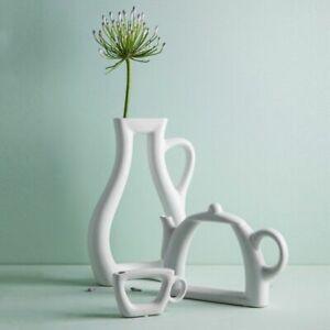 Hollow kettle ceramic vase decoration household Minimalist jarrones home decor m