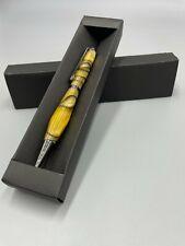 Handgedrechselte Drehkugelschreiber Epoxid Schreibgerät Exklusiv Dauerschreiber