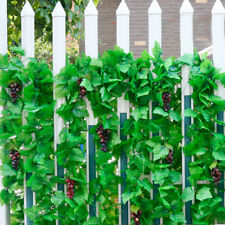 82ft Artificial grape Ivy vine faux Leaf Garland Plants Fake Foliage Green Home
