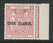 Cook Islands 1943-54 £1 Pink SG 134w Mint.