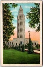 Baton Rouge, Louisiana Postcard State Capitol Building View KROPP - 1934 Cancel