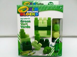 Crayola Building Blocks    20 Pieces     Green