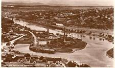 Bird's Eye View River Tay Perth Industrial RP pc used 1943 J B White