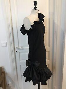 Robe noire 38 Yves Saint Laurent Rive Gauche