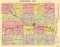 Lincoln County Kansas - Everts 1887 - 23.00 x 29.10