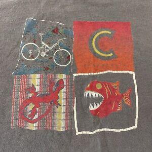 Vintage Cannondale Bikes Short Sleeve T Shirt Men's L Gray