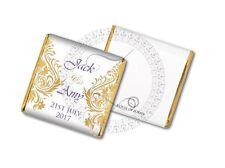 50 Personalised Luxury Vintage Gold Wedding Party Celebration Favour Chocolates