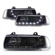 2 FEUX PHARE AVANT LED DEVIL EYES BMW SERIE 3 E36 NOIR COUPE ET CABRIOLET