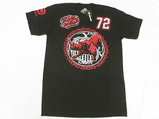 NWT Mens Ecko Unltd T-Shirt MMA 72 Rhino Graphic Print Tee Black Urban Sz L N123