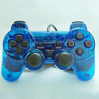 Azul/ Rojo con cable Shock DOBLE MANDO JUEGO PARA PS2 SONY PLAYSTATION 2