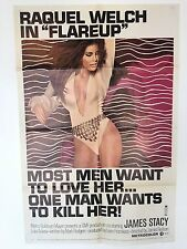 FLAREUP ORIGINAL 1970 MOVIE POSTER  RAQUEL WELCH 1 SHEET 27 X 41 INCH'S
