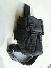 OldGen Eagle Industries Black SAS Gas Mask Drop Leg Pouch Duty LE SWAT SEAL Gear