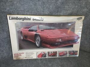 Vintage Testors Lamborghini Diablo 1/24 Scale Model Kit #235