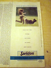 PUBBLICITA' ADVERTISING WERBUNG 1989 SARIDON COMPRESSE ROCHE (G42)