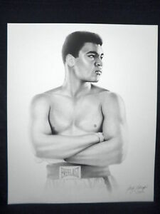 Muhammad Ali Cassius Clay Gary Saderup Everlast Boxing Lithograph