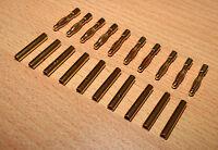 10 Paar 2mm Stecker / Buchse 20 x Bananenstecker Goldkontakte Connector Gold