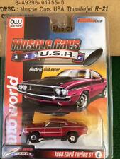 New Auto World R 21 Tjet Red 68 Ford Torino GT HO Slot Car Run on Aurora & Tomy