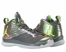 Air Jordan Super Fly 5 Dark Grey/Volt Men's Basketball Shoes SZ 12