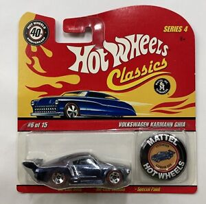 ~NEW~2004 HOT WHEELS CLASSICS-Series 4-Volkswagen Karmann Ghia Red W/Token #6/30