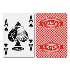 Christo's New Uncancelled Casino Playing Cards - RED