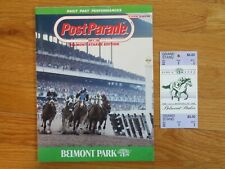 Post Parade BELMONT STAKES June 6 1992 Program Ticket A.P. Indy Ed Delahoussaye