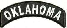 Oklahoma State Mini Rocker Embroidered Biker Patch