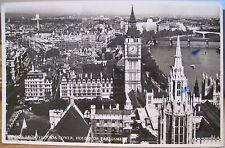 RPPC PC Birdseye LONDON VICTORIA TOWER Parliament England UK Real Photo RDF 1955