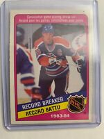 1984-85 O-Pee-Chee 1983-84 NHL Record Breaker #388 Wayne Gretzky Scoring Streak