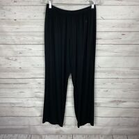 Comfy USA Women's Pull-On Pants Size Small Black Modal Spandex