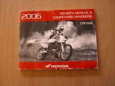 Autista MANUALE MANUTENZIONE HONDA CRF 250 R 2006 owner's maintenance manual