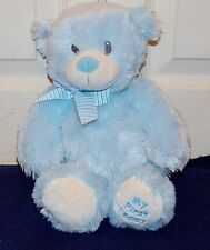 "12"" Ty Classic Sweet Baby Blue MY FIRST TEDDY BEAR w/ Striped Bow 2013"