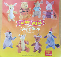 McDonalds Happy Meal Toy 2000 Winnie The Pooh + Friends Soft Toys - Various