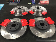 FOR TOYOTA CELICA ST205 BRAKE DISC DRILLED GROOVED EBC BRAKE PADS FRONT REAR