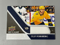 Filip Forsberg 2020-21 Upper Deck Series 1 UD Game Jersey Relic GJ-FF Predators