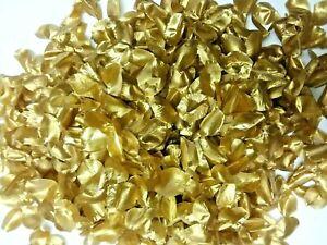 Metallic Gold Rose Clover Petals (130 pcs) Artificial Silk Flower Party Decor