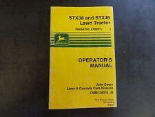 John Deere STX38 and STX46 Lawn Tractor Operator's Manual  OMM124078 J5