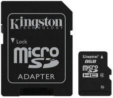 Lot of 10 KINGSTON 8GB CLASS 4 micro SD SDHC Flash Memory Card PACK + ADAPTER
