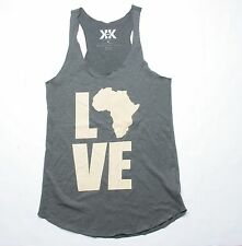 Krochet Kids Love Africa Tank  (M) Grey
