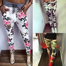 Womens Floral Harem Pants Casual Jogger Dance Hip Hop Slacks Trousers Sweatpants