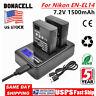 2X EN-EL14 Battery+LCD DUAL Charger ForNikon D5100 D5300 D3100 D3200 EN-EL14a UB